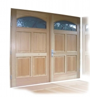 Lesena garazna vrata macesen