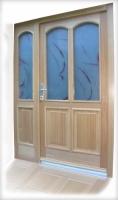 Varnostna lesena vhodna