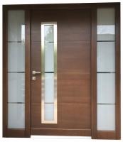 Lesena-vhodna-vrata-moderna