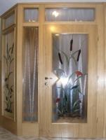Leseni vetrolov hrast steklo vitraz