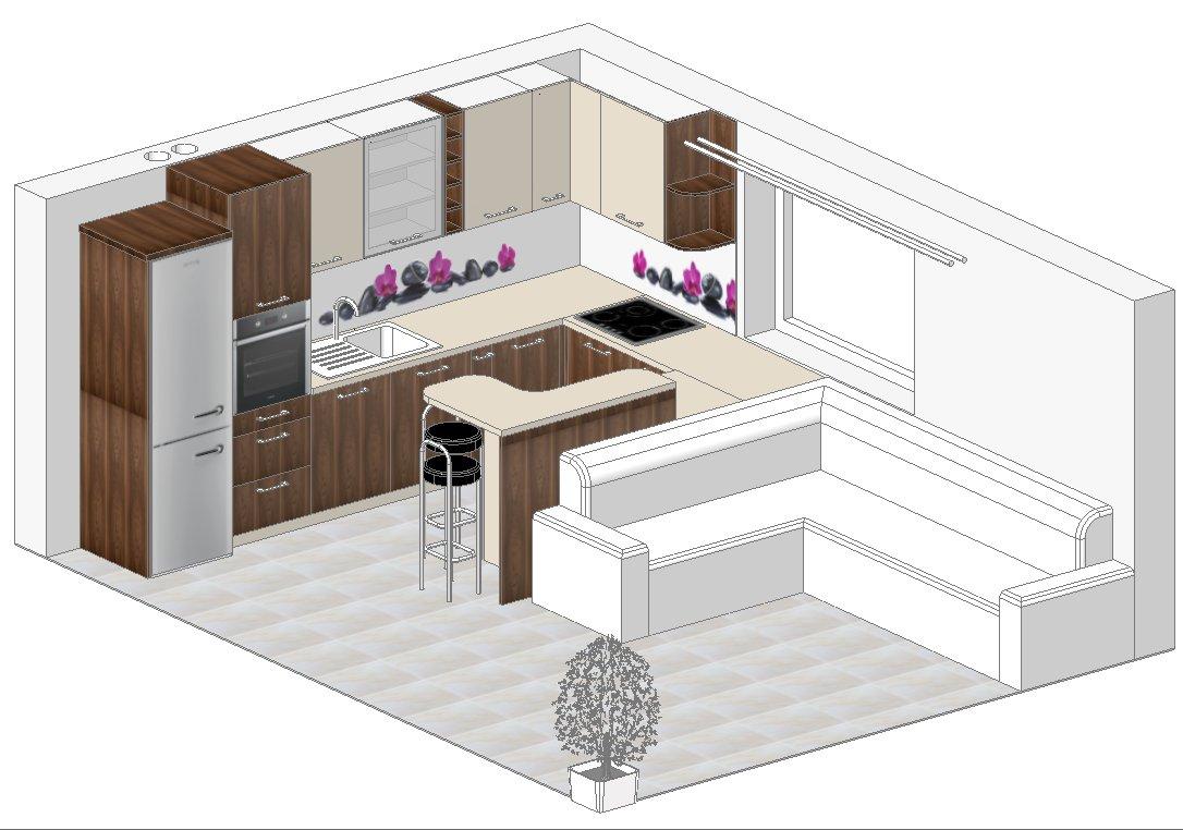 3D-izris-kuhinje