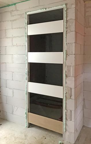 Alu profili za notranja vrata popravnana s steno, montaža in cena.